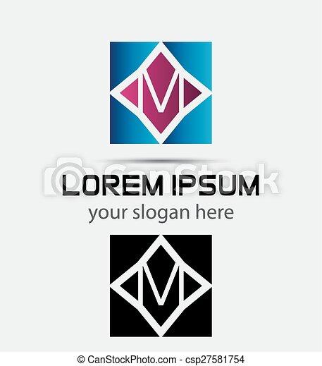 Letter M logo - csp27581754