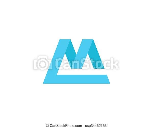 Letter M Logo - csp34452155