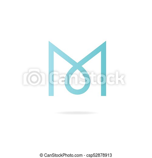 letter m logo design template elements csp52878913