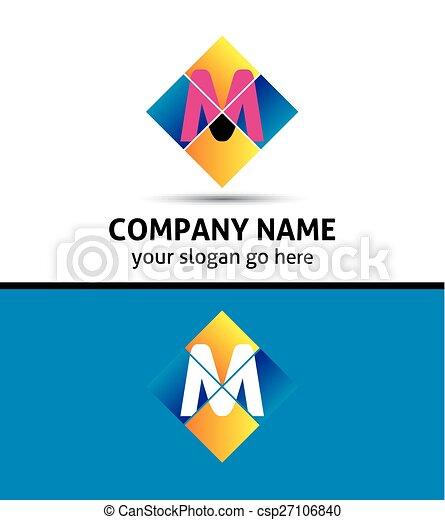 Letter M logo - csp27106840