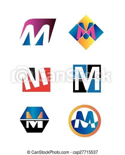 Letter M logo - csp27715537