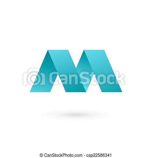 Letter M logo icon design template elements - csp22586341