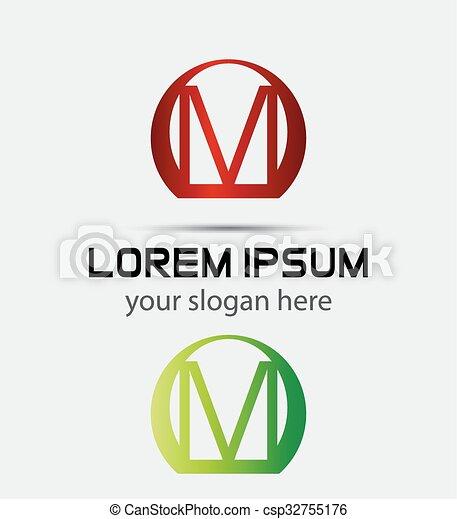 Letter m logo icon - csp32755176