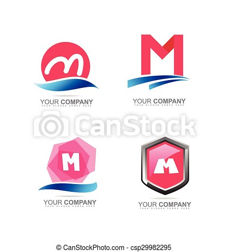 Letter M logo icon set - csp29982295