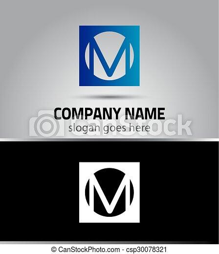 Letter M logo - csp30078321