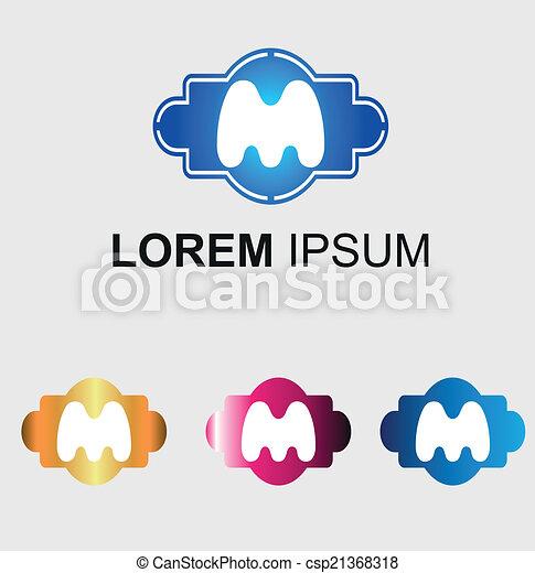 Letter M logo - csp21368318