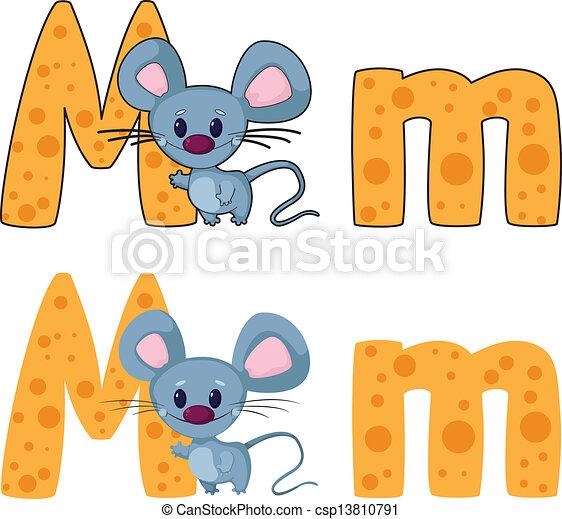 illustration of a letter m mouse