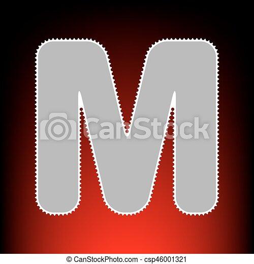 Letter m sign design template element. postage stamp or old photo ...