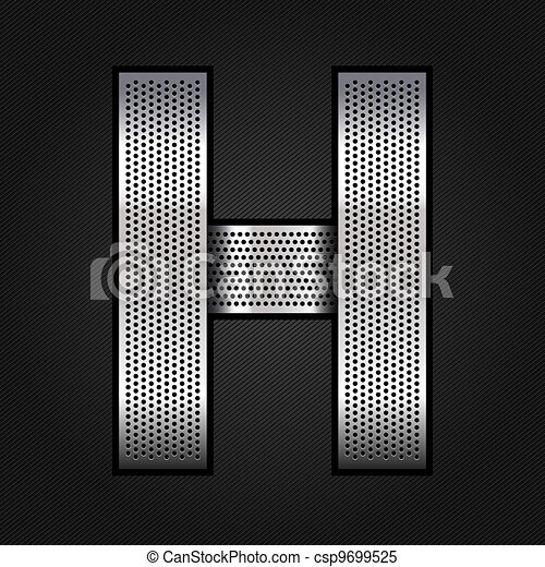 Letter metal chrome ribbon - H - csp9699525