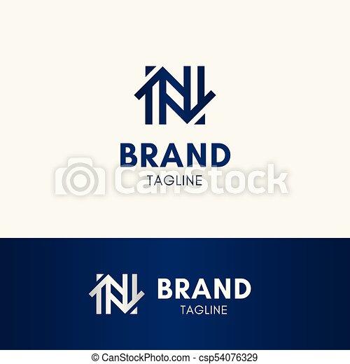 Letter N Home Logo Template Element Symbol In Dark Blue Vector