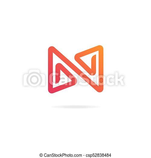 letter n logo design template elements