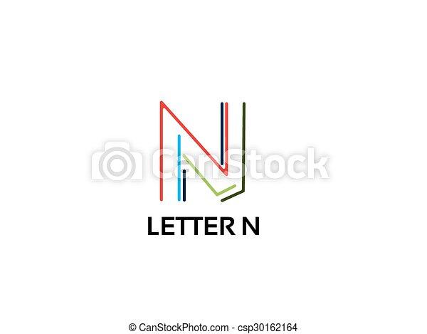 Letter n logo icon design template vector business elements maxwellsz
