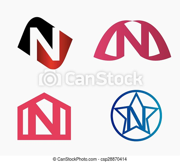 Letter n logo icon design template elements set letter n logo icon design template csp28870414 maxwellsz