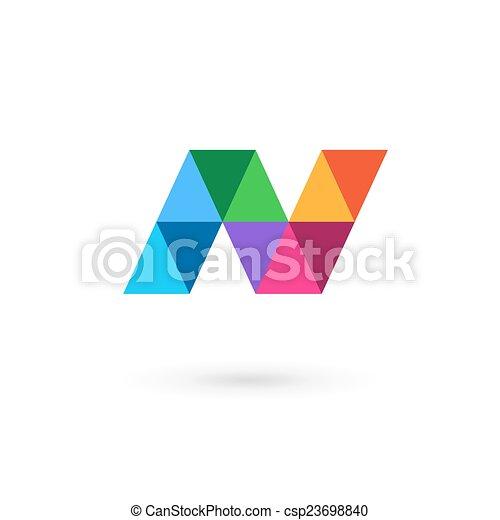 letter n mosaic logo icon design template elements csp23698840