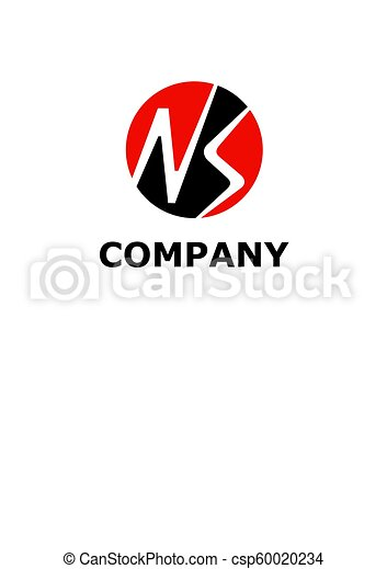 Letter Ns In Circle Logo Symbol Type Letter N And Letter S