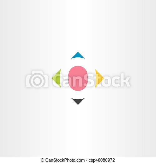 Letter O Colorful Symbol Element Design