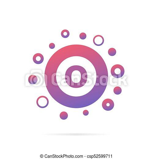 Letter O In Circle Abstract Logo Design Creative Symbol Design