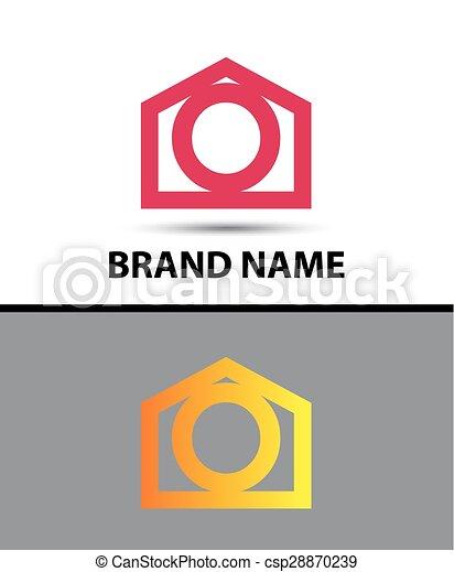 Letter O Logo Real Estate Symbol
