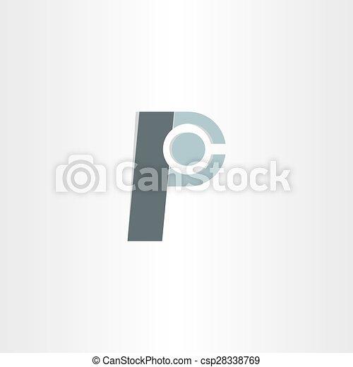Letter P Character Symbol Design Letter P Character Vector Clip