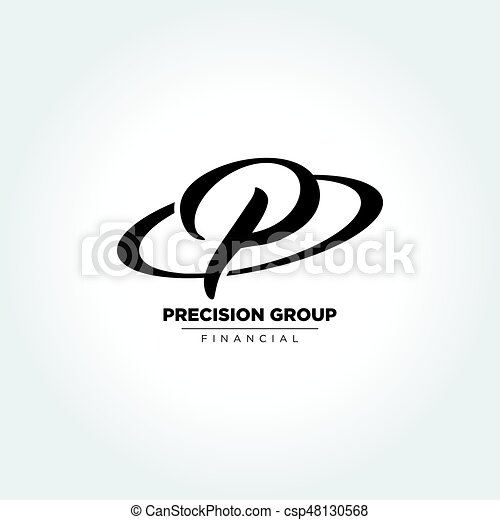 Letter P Inside Circle Symbol An Amazing Design Of Custom Letter