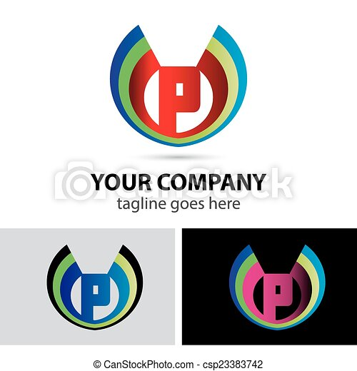 Letter P Logo Icon Design Template