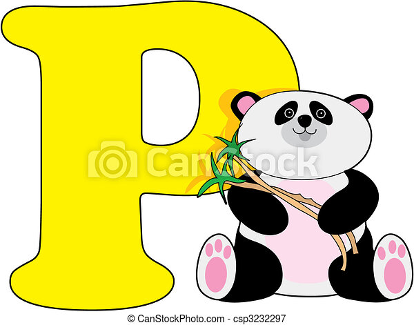 letter p with a panda vectors illustration search clipart rh canstockphoto com letter p clipart images alphabet letter p clipart