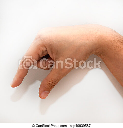 letter q in american sign language asl for deaf people stock photo
