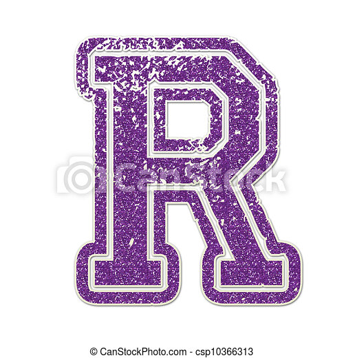 Letter r in college glitter Letter r clipart Search