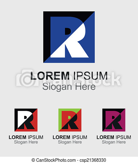 Letter r logo design sample icon vectors search clip art letter r logo design sample icon csp21368330 spiritdancerdesigns Gallery