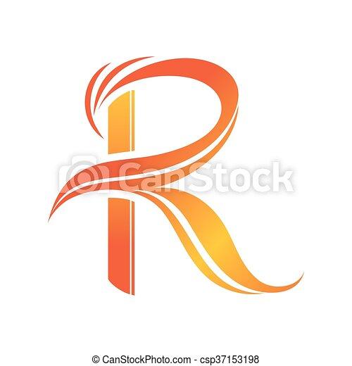 letter r logo design template csp37153198