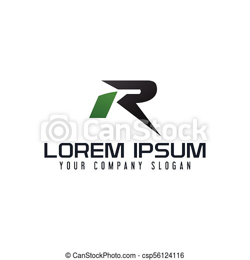letter r logo fast speed design concept template csp56124116