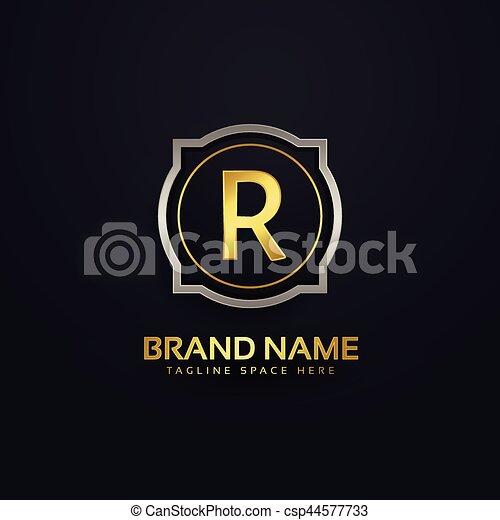 Letter r luxury logo design letter r luxury logo design csp44577733 altavistaventures Image collections