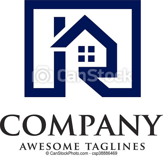 letter r real estate logo real estate with letter r concept real rh canstockphoto com realtor vector logo mls real estate logo vector