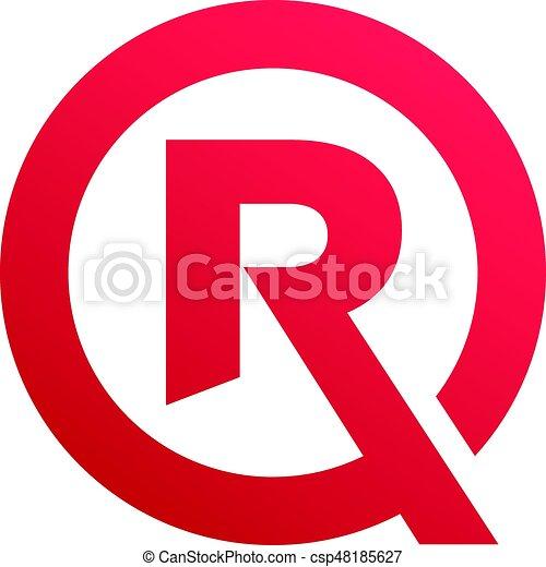 An Amazing Letter R Symbol Inside Circle Design