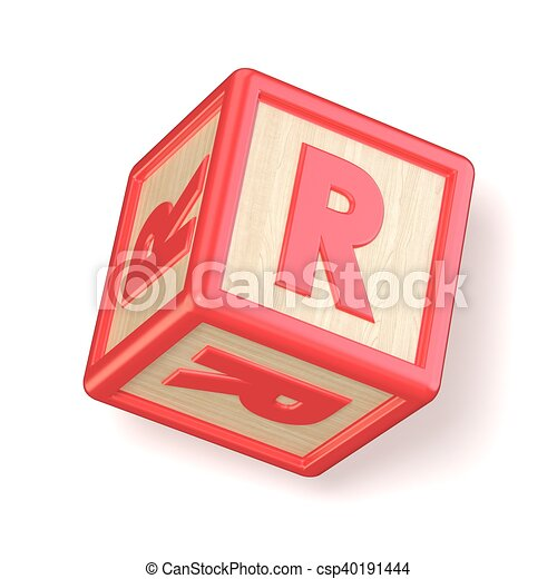 letter r wooden alphabet blocks font rotated 3d csp40191444