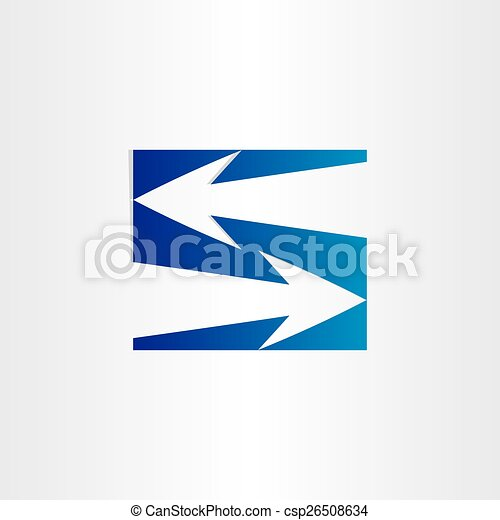 Letter S Arrows Symbol Number 5 Sign Sompany Place Centre Direction