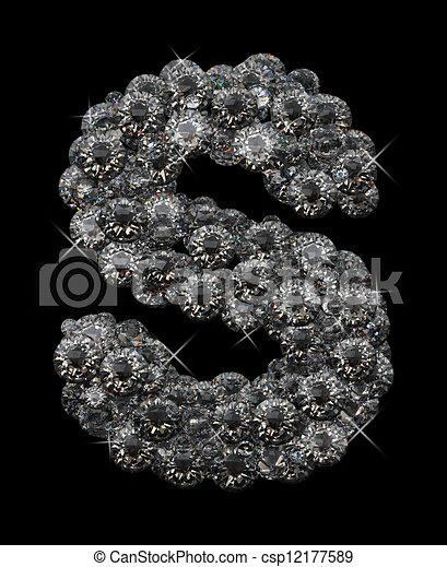 letter s in diamonds stacked up