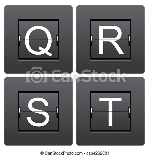 Letter series Q to T from mechanical scoreboard - csp4262081