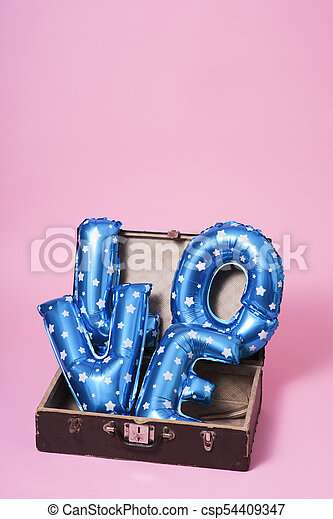 letter-shaped balloons forming the word love - csp54409347