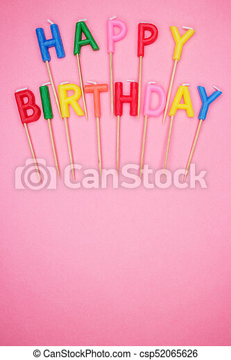 Letter Shaped Happy Birthday Candles