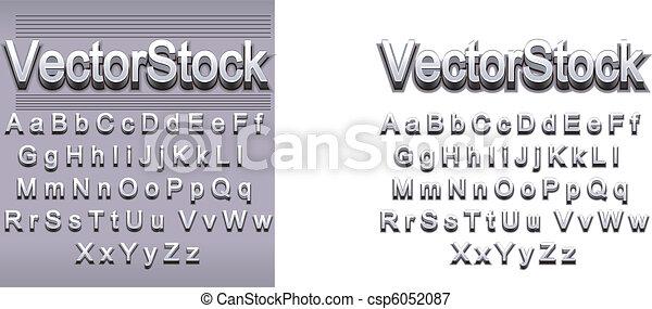 Letter Style metalic polish 2 - csp6052087