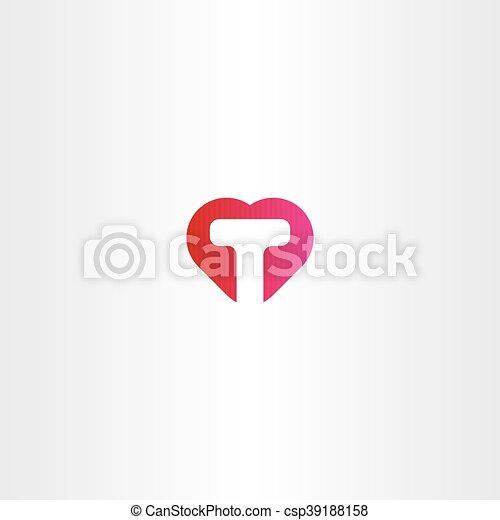 T Letter In Heart Images - impremedia.net