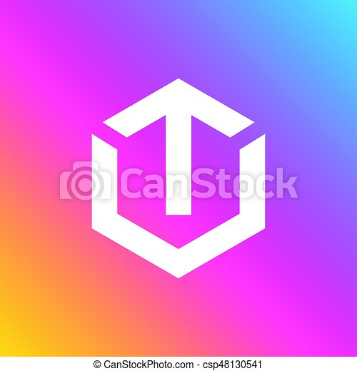 An Amazing Letter T Symbol Inside Hexagon Design Eps Vector Search