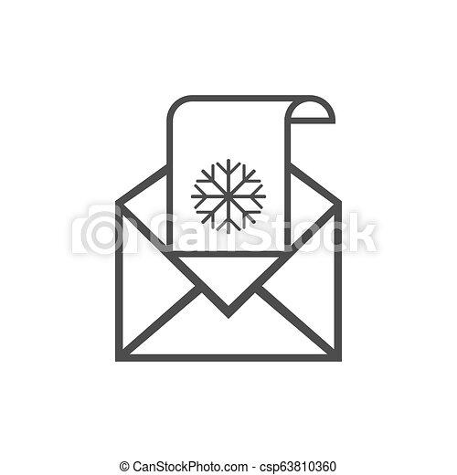 Letter to Santa icon, wish list. Vector illustration. - csp63810360