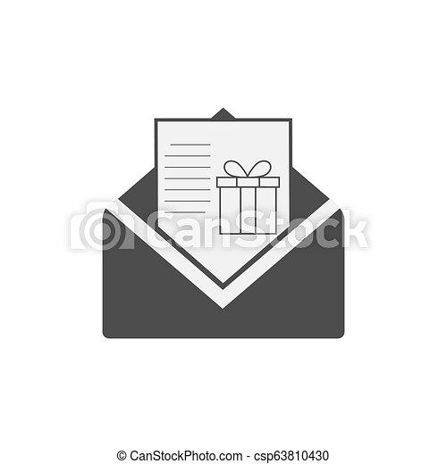 Letter to Santa icon, wish list. Vector illustration. - csp63810430