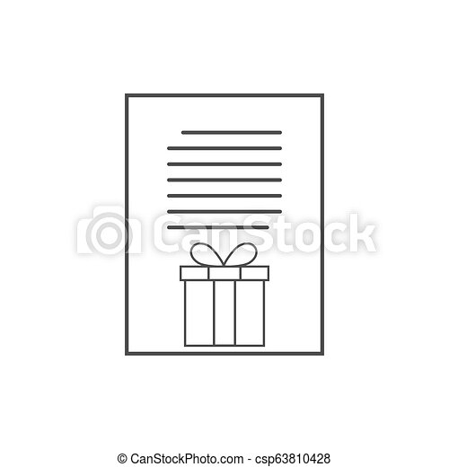Letter to Santa icon, wish list. Vector illustration. - csp63810428