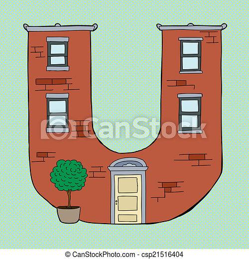 Letter U Apartment   Csp21516404