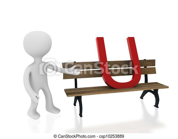 letter U on desk - csp10253889