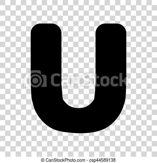 Letter U Sign Design Template Element Black Icon On Transparent