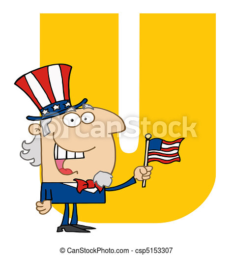 Letter U With Uncle Sam - csp5153307